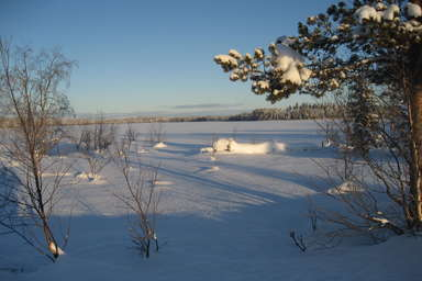 Myrkulla Lodge im Winter